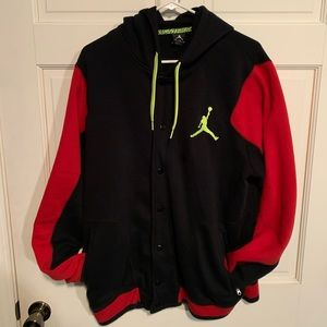 Hooded button up Jordan Jacket